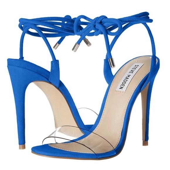 f0009b162e1 Brand new Steve Madden Lyla Blue Suede Heels